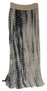 Miss Me Elastic Waistband Tie Die New Without Tag Maxi Skirt black/gray