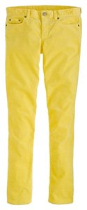 J.Crew Straight Pants Yellow
