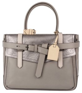 Reed Krakoff Satchel in Grey Silver Beige