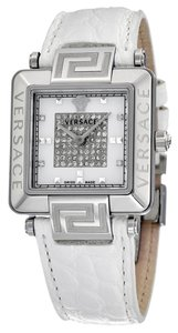 Versace VERSACE Reve Carre Mother of Pearl Dial Dial White Leather Ladies Watch 88Q99SD97F-S001