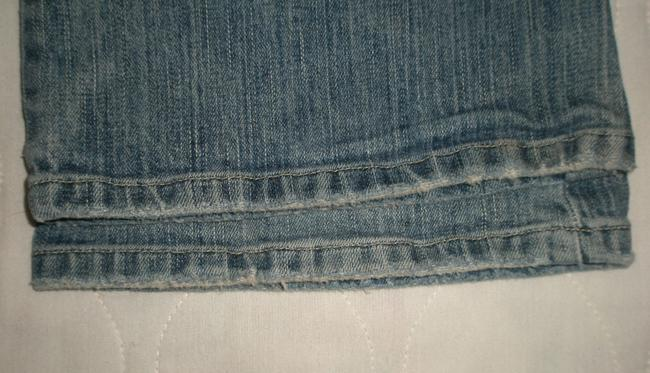American Eagle Outfitters Zip Fly *low Rise *cotton/Spandex *machine Washable *boot Leg Opening *back Flap Pockets *marking & Distressing Detail Boyfriend Cut Jeans-Medium Wash
