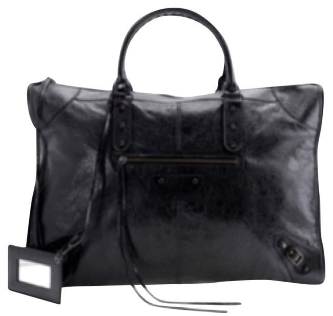 Item - Classic City Tote Black Lambskin Leather Weekend/Travel Bag