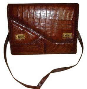 Briefcase Alligator Skin Shoulder Bag
