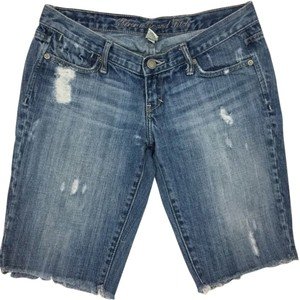 Abercrombie & Fitch Distressed Capris Capri/Cropped Denim-Distressed