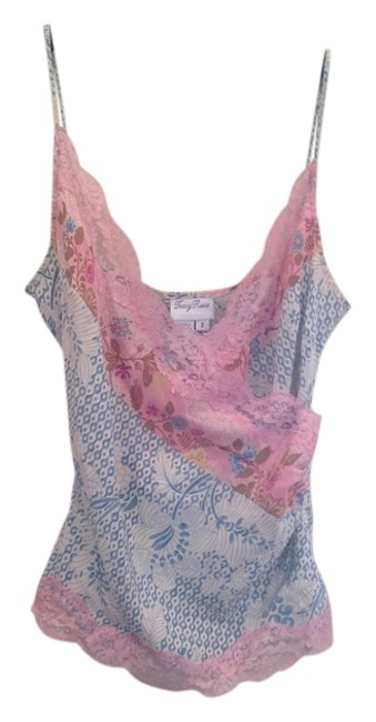 Preload https://item4.tradesy.com/images/tracy-reese-100silk-tank-top-pink-and-blue-with-pink-lace-1256873-0-0.jpg?width=400&height=650