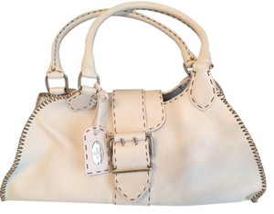Fendi Selleria Satchel in White