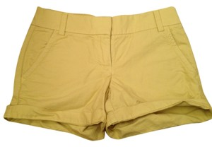 J.Crew Florescent Chinos Cuffed Shorts yellow