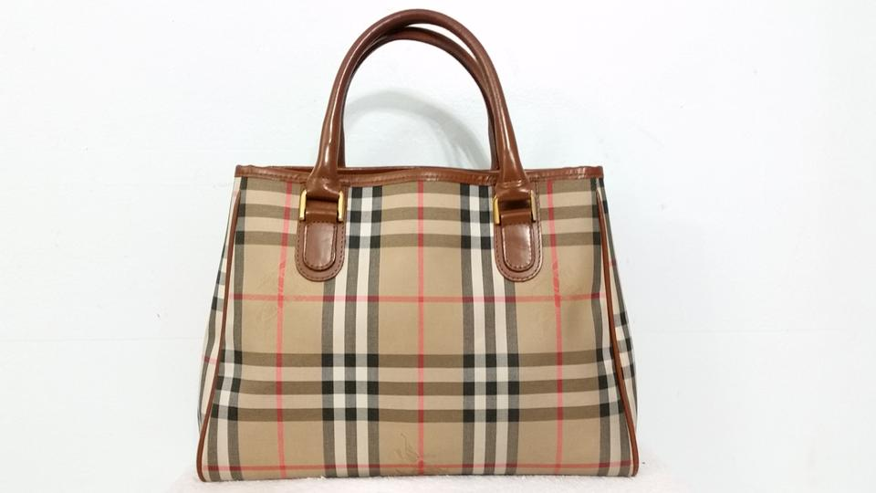 Burberry Leather Nova Check Nova Checker Handbag Satchel Shoulder Tote in  red ecfe125ff3cc1