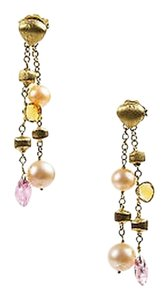 Marco Bicego Marco Bicego Paradise Collection 18k Gold Pearl Pink Tourmaline Citrine Earrings