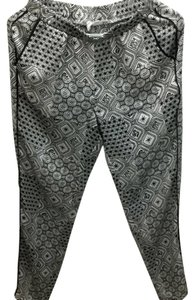 BCBGeneration Printed Trousers Trouser Pants Black, White