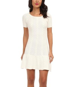 Sam Edelman short dress Ivory White Cable Knit Stretch Scoop Neck on Tradesy