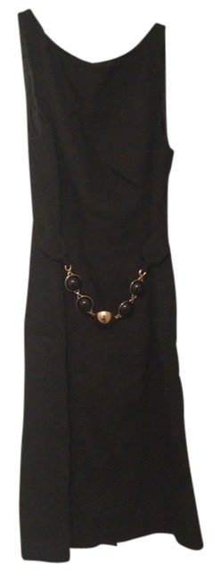 Preload https://item3.tradesy.com/images/milly-dress-black-with-gold-and-black-chainbelt-1257042-0-0.jpg?width=400&height=650