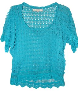 One7Six Knitted Top Green Blue