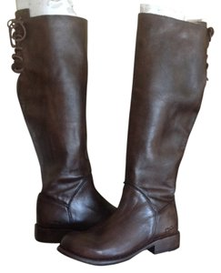 Bed Stü Manchester Ii Leather Lace Up Tall Riding Teak Glaze Boots