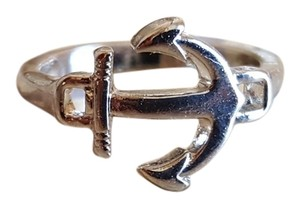 Silver plated Anchor ring Size 6.5