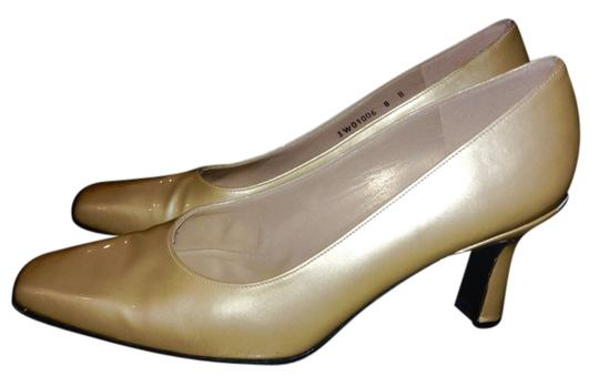 Stuart Weitzman Metallic Gold Formal