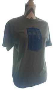 Other Dr. Who Tardis Size M Whovian T Shirt Gray