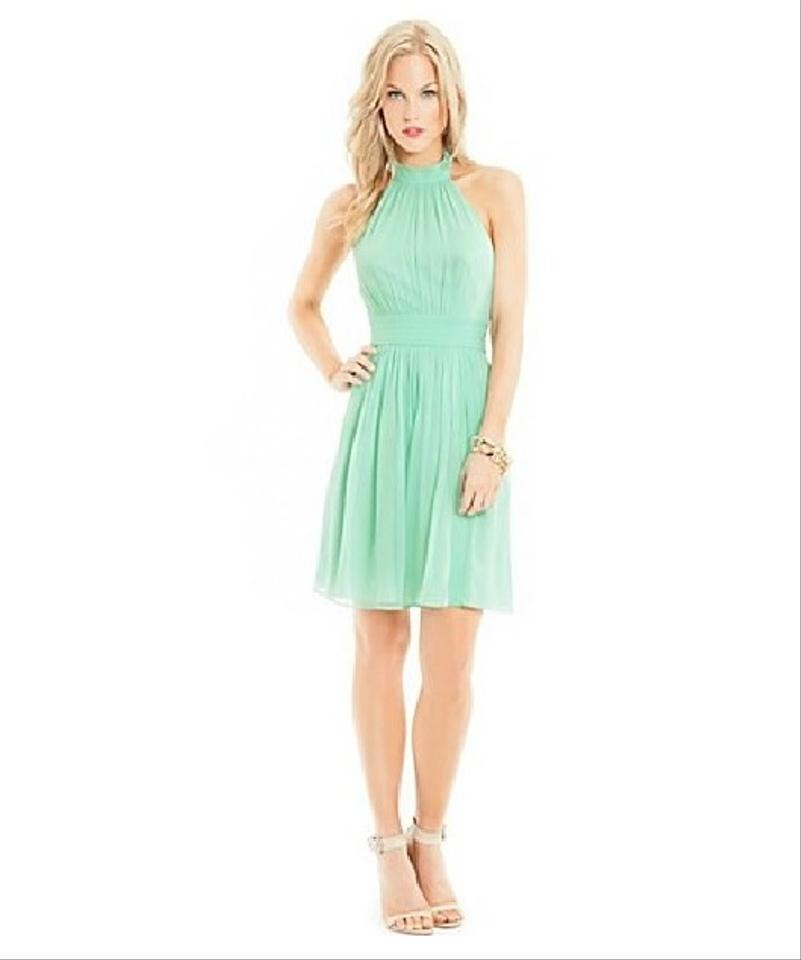 Guess by marciano cocktail dress mint green above knee 61 for Guess dresses for wedding