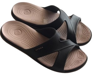 Crocs Brown with pink Sandals
