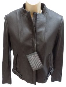 Theory Theyskens Pinstripe Belted Motorcycle Jacket