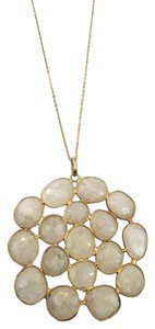 Independent Clothing Co. Large White Moonstone Cluster Necklace