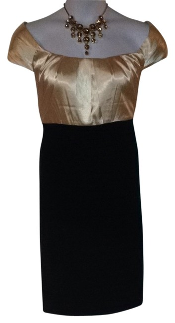 Preload https://item1.tradesy.com/images/london-times-black-and-beige-knee-length-workoffice-dress-size-22-plus-2x-1257205-0-0.jpg?width=400&height=650