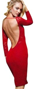 Moda International short dress Red Velvet on Tradesy