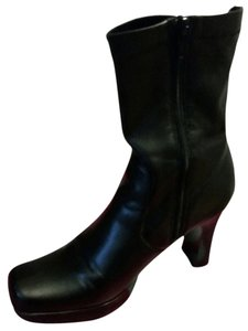 BP. Clothing Leather Mid Calf black Boots