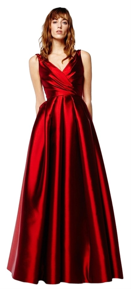 Reem Acra Red Ball Gown Dress - Tradesy