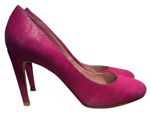 Cole Haan Leather Pebbled Suede Violet Pumps