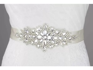 New Bridal Sash Color White