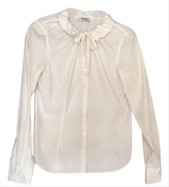 Preload https://item5.tradesy.com/images/moschino-white-button-down-top-size-10-m-1257334-0-0.jpg?width=400&height=650