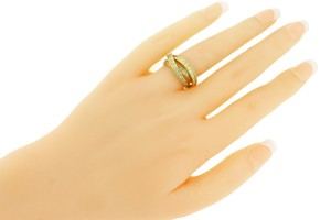 Cartier Trinity diamond ring in 18k yellow gold in good condition size 50 (US 5.25).