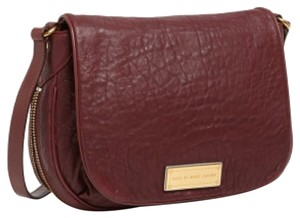 Marc by Marc Jacobs Pebbled Leather Dark Raspberry Messenger Bag