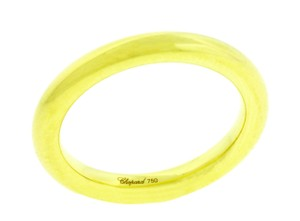 Chopard 824400-0008 thin round ring in 18k yellow gold size 7.5 with COA