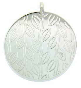 BVLGARI Enigma By Bulgari large round pendant in sterling silver