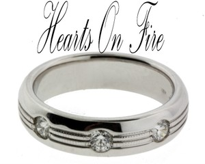 Hearts on Fire men's .47ct diamond wedding band in 18K white gold size 9.25
