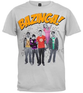 Target Big Bang Theory Bazinga T Shirt Grey