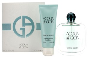 Giorgio Armani ACQUA DI GIOIA by GIORGIO ARMANI Women's 2pc Gift travel Set -- 3.4 oz Eau de Parfum Spray + 2.5 oz Body Lotion *Brand New.*