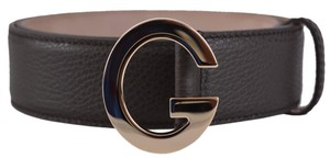 Gucci New Gucci Women's 362732 Brown Leather G Buckle Belt 32 80