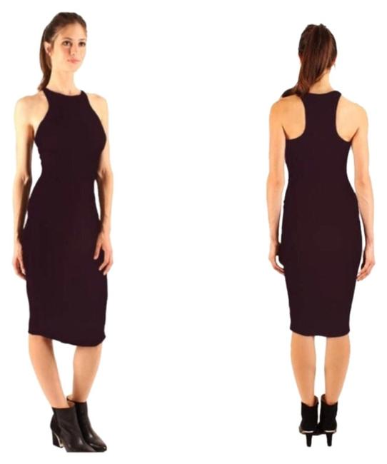 "Item - Black New ""Recall"" Ribbed Racerback Bodycon Midi Mid-length Casual Maxi Dress Size 14 (L)"