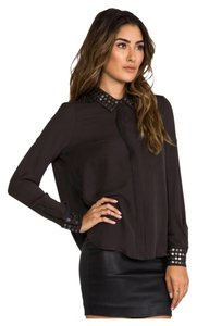 Haute Hippie Top Grey/Charcoal