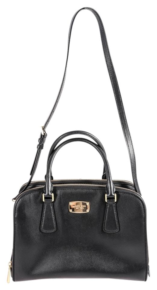 7bb016ce83b9d8 Michael Kors Mk Reese Leather Crossbody Satchel in Black Image 0 ...