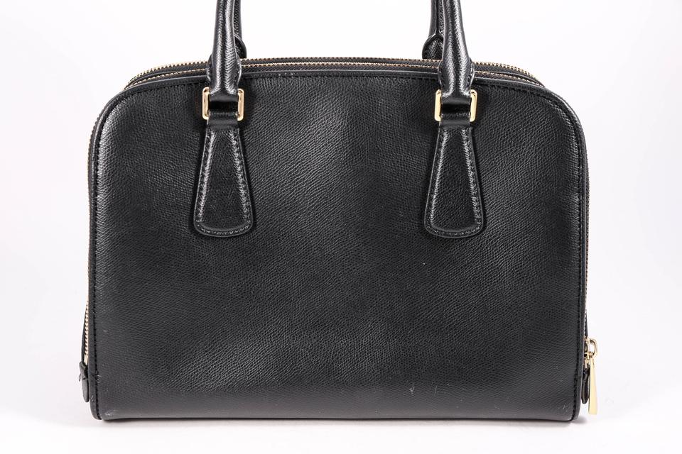 39e1e4ab179c9b Michael Kors Mk Reese Leather Crossbody Satchel in Black Image 6. 1234567