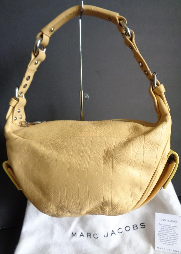 Yellow Hobo Jacobs Leather Marc Bag Purse with Dust zIxzvTa