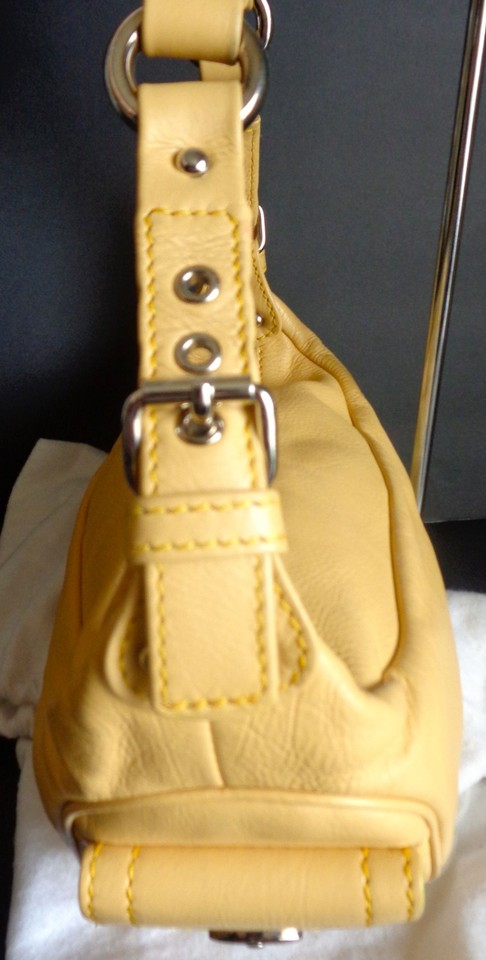 Purse Marc Dust Jacobs Bag Hobo Yellow with Leather UxB1Pz