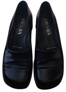 Prada Leather Black Flats