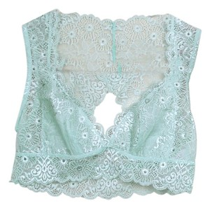 Daisy Del Sol Lace Bra Bralette Galloon Lace Crop Top Seafoam