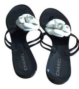 Chanel Jelly Black Sandals