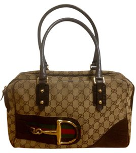 Gucci Tote in Brown, green, red